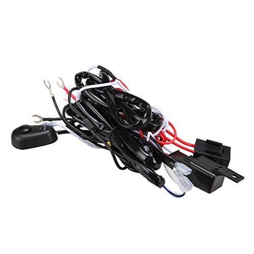 Kit Arnés de Cable Conector con Fusible Relé 12V 40A para Lámpara LED Luz de Conducción Trabajo