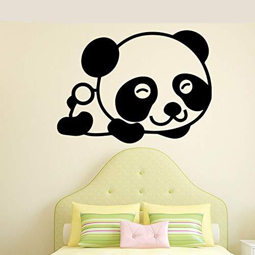 BFMBCH Adesivi murali orso sorriso simpatico Adesivi murali arte camera dei bambini Decorazioni camera da letto Accessori decorazione della casa Adesivi Bianco XL 58 cm X 42 cm