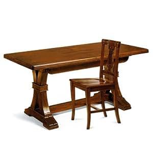 """Table de salle à manger à rallonges, polissage """"bassano-fabrication italienne"""