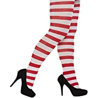 Adult Christmas/Fancy Dress Red & White Stripy Tights