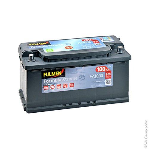 FulmenFA1000 –Batería para coche de12V, 100Ah, 900A