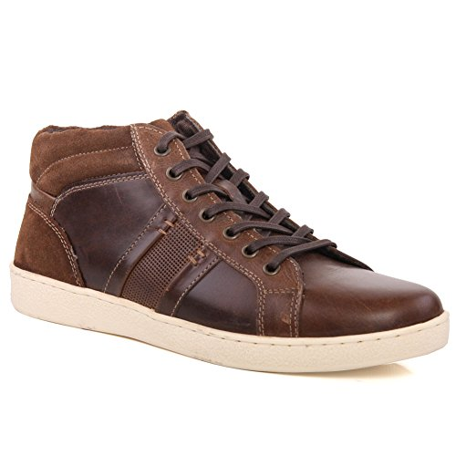 Tamanho Oz Mens Rendas Sapatilhas 7 Sapatos Lawton Ocasionais Até 12 'lawton' Marrom Ux50p