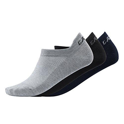 Preisvergleich Produktbild CAMEL Herren No Show Low Cut Baumwollsocken,  Sportsocken,  Loafer Socken (3 Paare: Schwarz,  Grau,  Dunkelblau)