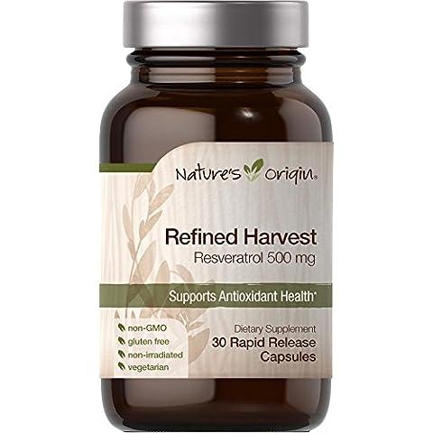 Natures Origin Raffinato Vendemmia Resveratrol 500mg 30 Rapido Rilascio Pillole
