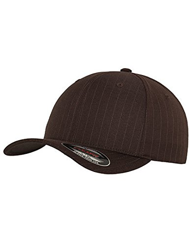 Flexfit Pinstripe Baseball Cap (S/M, schwarz-weiß) -