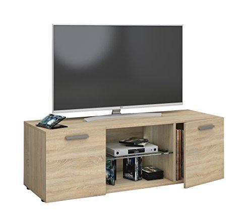 Eiche Tisch-bank (VCM TV Lowboard Fernseh Schrank Möbel Tisch Holz Sideboard Medien Rack Bank Sonoma-eiche 40 x 115 x 36 cm