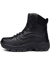 FCBDXN Hombre High Top Al Aire Libre Montañismo Botas Del Ejército Tácticas De La Policía Militar Del Desierto Calzado De Combate Fuerzas Especiales Zapatos Con Cordones