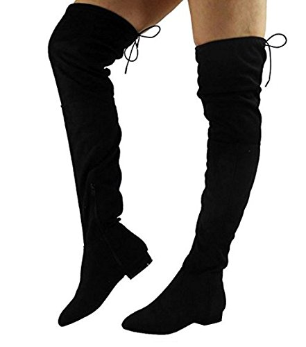 womens-ladies-thigh-high-boots-over-the-knee-party-stretch-block-heel-size-3-8-uk5-eur38-us7-black-2