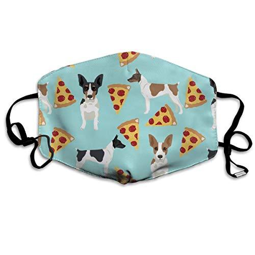Anti-Staub-Maske für Ratten, Terrier, Pizza, waschbar, wiederverwendbar, 2 Stück