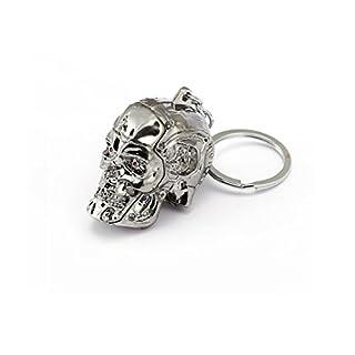Metal Keyring with Terminator Skull (Pack of 2)