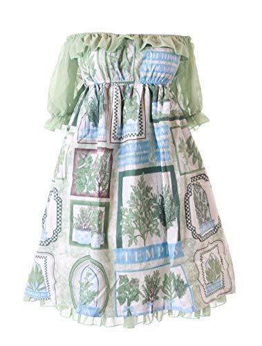 Kostüm Kawaii - JSK-41 Grün Forrest Wald Bäume Chiffon Kleid Lolita Cosplay Kostüm Kawaii
