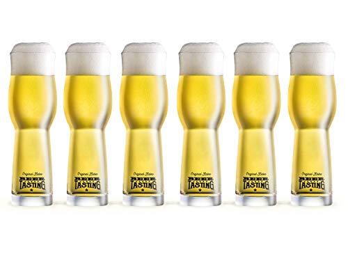 KALEA Bier Verkostungs Glas 6 x 0,33l (Original BeerTasting Degustationsgläser)