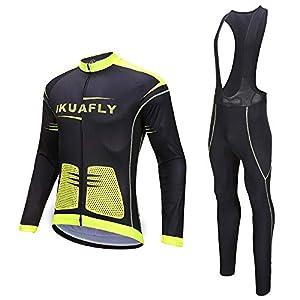 I Kua Fly Maillot Ciclismo, Maillot Ciclismo Ropa Ciclismo Reflectivo para Hombre, L