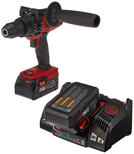 Chicago Pneumatic CP8548K 1/2 Cordless Hammer Drill Driver Kit, Red/Black by Chicago Pneumatic -