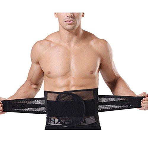 Zhhlinyuan Übungsgürtel Mens Waist Trimmer Adjustable Breathable Belt Fat Burner Lumbar Support Posture Corrector (Slim Nylon Shaper)