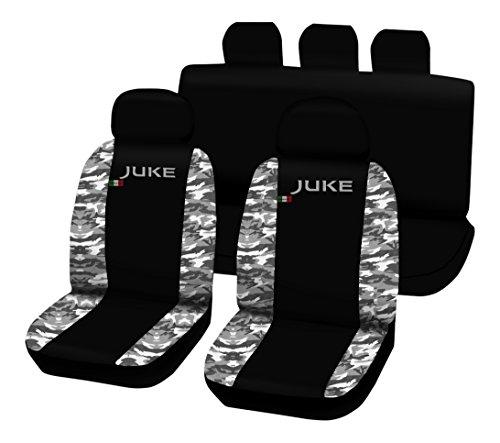 Lupex Shop Juke_N.Mch Coprisedili Bicolore, Nero/Mimetico Chiaro