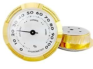 CiGuru CH003 Hygromètre à aiguille Hygromètre pour cave à cigares 60mm