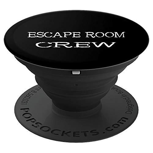 Escape Room Crew Exit Room Rätsel Team Spieler Gruppen Spiel - PopSockets Ausziehbarer Sockel und Griff für Smartphones und Tablets