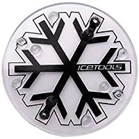 Icetools - Almohadilla antideslizante para tabla de snowboard, diseño de corona snowflake Talla:unitario