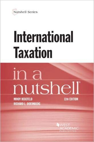 International Taxation in a Nutshell (Nutshell Series) por Mindy Herzfeld