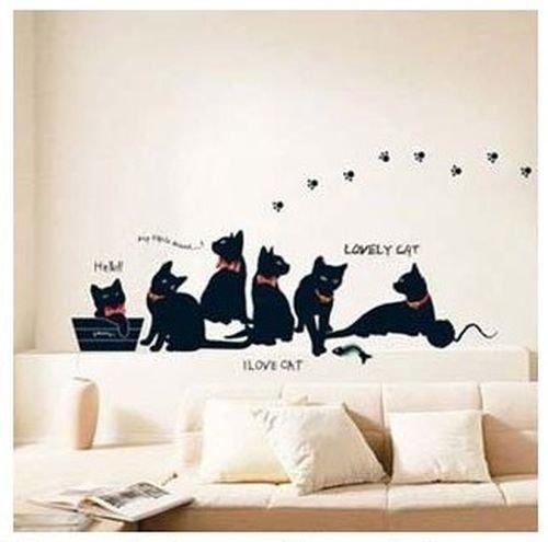 ich liebe Katze! Wandtattoo Wall sticker Kinderzimmer Geschenk Bogen Gr.: 33*60cm
