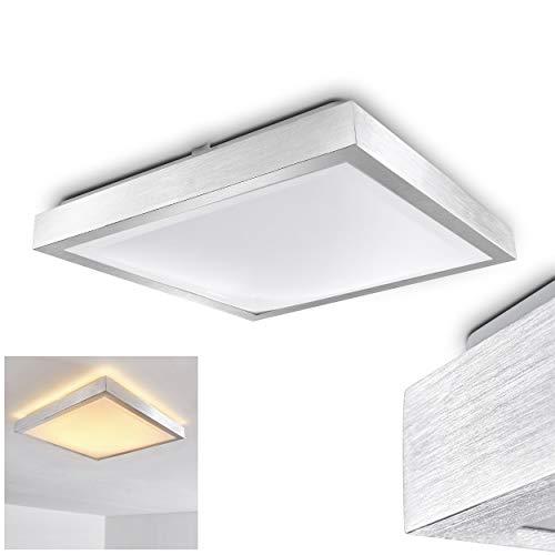 Quadratische LED Leuchte Sora für Badezimmer - Küche - Flur - Esszimmer - Eckige Badleuchte im modernen Design mit 3000 Kelvin - Energiespar-Lampe mit 24 Watt - Quadratische Metall-wand-lampe
