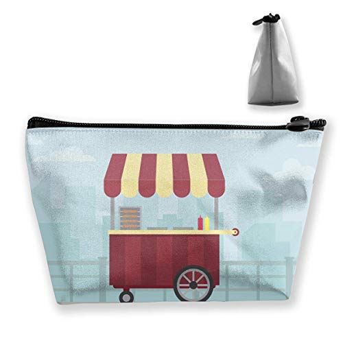 Cartoon Concession Illustation Women Cosmetic Bags Multifunktions-Kulturbeutel Organizer Travel Wash Lagerung (Trapez)