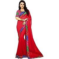 Da Facioun Indian Women Designer Party wear Red Saree Sari
