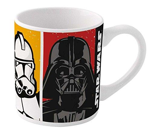 Preisvergleich Produktbild BOYZTOYS Arbeitshemd Kinder Tasse in Geschenkbox,-Star Wars, weiß