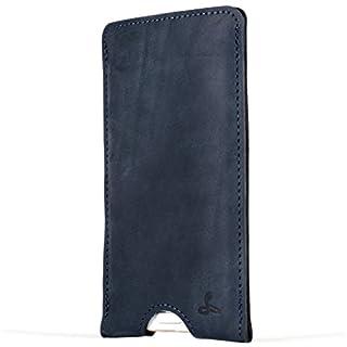 Snakehive® Vintage Collection HTC One A9 Vintage-Handymäppchen aus Nubukleder mit Kreditkarten-/ Banknotenfach (Marine Blau)