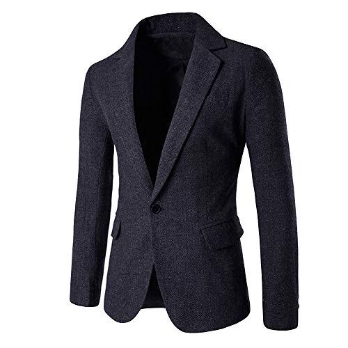 Longra Uomo Blazer Slim Fit Uomo Casual One Button Elegante Vestito di Affari Cappotto Giacca Blazers Top Outwear Giacca di Lana per Affari