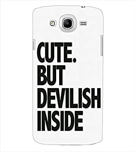 ColourCraft Quote Design Back Case Cover for SAMSUNG GALAXY MEGA 5.8 I9150