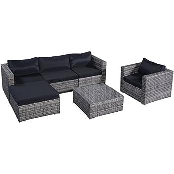 Gartenmöbel sitzgruppe rattan lounge  Amazon.de: 13tlg.Lounge Set Gartenmöbel Rattan Set Polyrattan ...