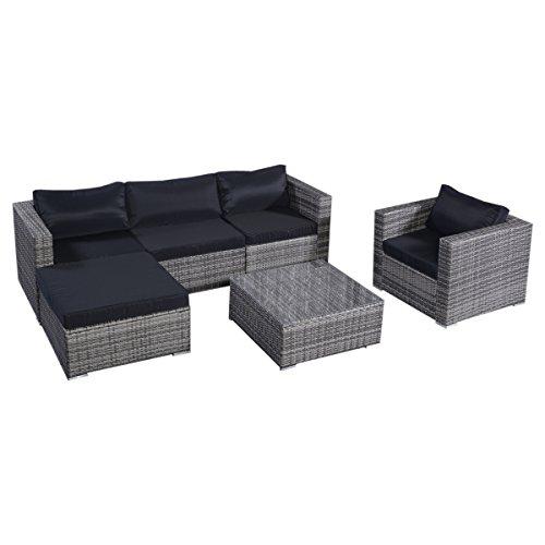 floristikvergleich.de 13tlg.Lounge Set Gartenmöbel Rattan Set Polyrattan Sitzgruppe Rattanmöbel Garnitur Garten