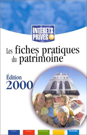 Fiches pratiques du patrimoine - édtion 2000