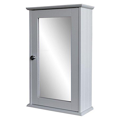 Armario con espejo 53x 34x 15cm–Armario botiquín–Armario de pared para baño y piso–Cuarto de baño armario madera armario con espejo puerta DM blanco