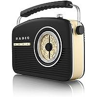 Akai A60010 Portable 4 Band Retro FM Radio, 14 W - Black - ukpricecomparsion.eu