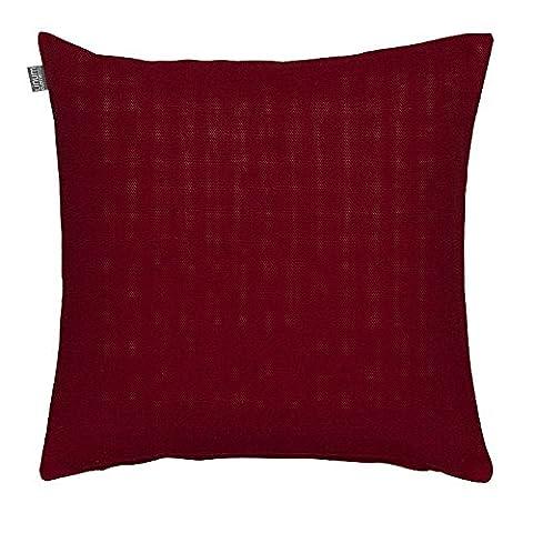 LINUM Kissenhülle PEPPER D90 dunkelrot 60cm x 60cm Canvasgewebe, 100% Baumwolle, Kissenbezug,