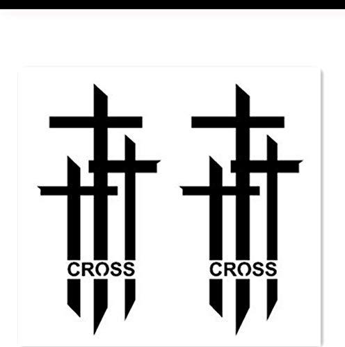 Temporäre Gefälschte Tätowierung Aufkleber Cool Black Cross Englisch Buchstaben Einzigartiges Design Body Art Bilden Werkzeuge pcs 3 ()