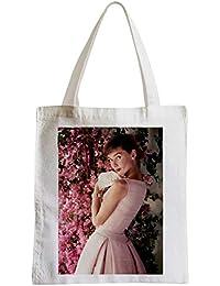 f8efea2367f9e Große Tasche Sack Strand Schüler Foto von Star Berühmte Schauspielerin Audrey  Hepburn Altes Kino ...