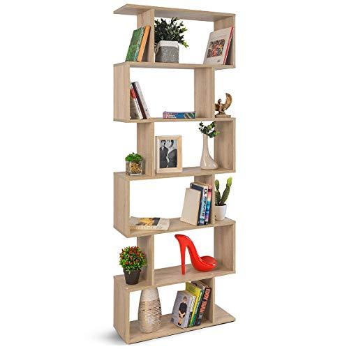 COMIFORT - Estantería Librería Decorativa Moderna Y De Diseño, Cuatro Acabados, Medidas 192 x 70 x 23,5 cm (Roble)