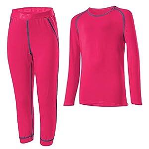 LÖFFLER Set 3/4 Pants Transtex Warm Kids – pink