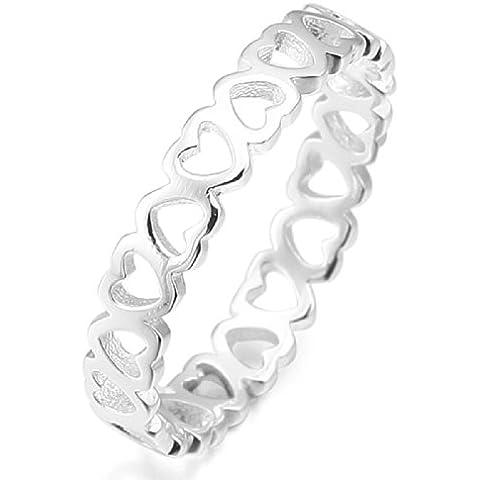 MunkiMix 925 Plata Anillo Ring Plata Corazón Heart Alianzas Boda Amor Love Mujer
