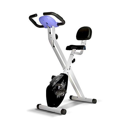 Gridinlux. Bicicleta estática Magnética Plegable, Pulsómetro, Rodamientos magnéticos, Pantalla LCD...