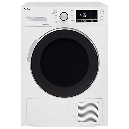 Amica ACD8WH White Freestanding Condenser Tumble Dryer with 8kg Dry Load, Child Lock and 16 Programmes