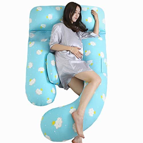 Seitenschläferkissen-SYY Full Body Kissen for Mutterschaft Waschbar Pillowcase Vielseitig einsetzbar Stillkissen Baby-Stillkissen (Color : Blue)