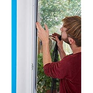 tesa Insect Stop STANDARD Fliegengitter für Fenster – Zuschneidbares Moskitonetz – 130 cm x 150 cm & Insect Stop…
