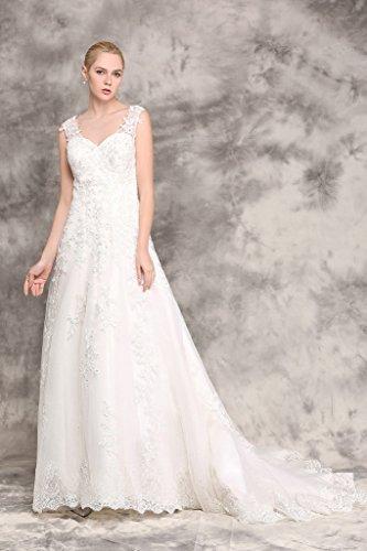 Brautkleid mit Rückenansicht und Schleppe Ivory - 2
