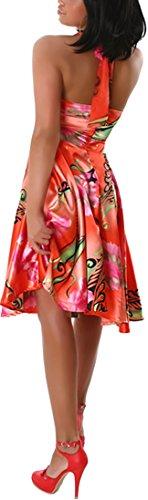 Jela London - Robe - Cocktail - À Fleurs - Sans Manche - Femme Flamingo-Rot