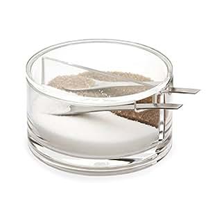 Balvi-sucrierdouble enacrylique. Avec deux compartiments. Transparent.